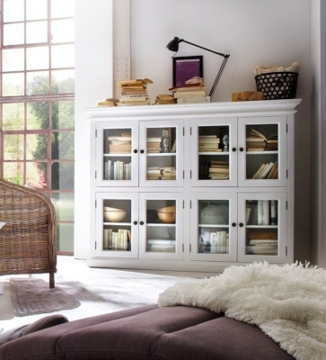 Nova Solo Halifax White 8 Door 3 Level Pantry