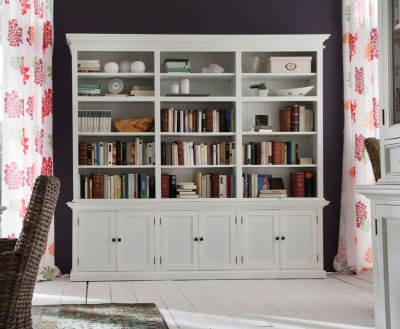 Nova Solo Halifax White Triple Bay Hutch Unit