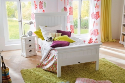 Nova Solo Halifax White Bed - Single