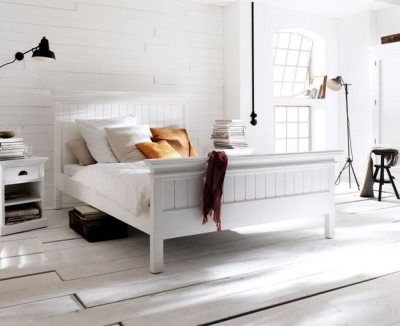 Nova Solo Halifax White Bed