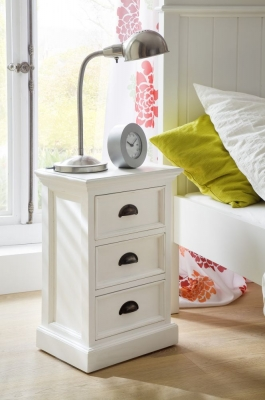 Nova Solo Halifax White Bedside Cabinet