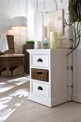Nova Solo Halifax White Bedside Storage Unit