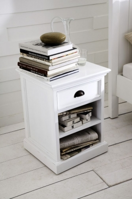 Nova Solo Halifax White Bedside Table