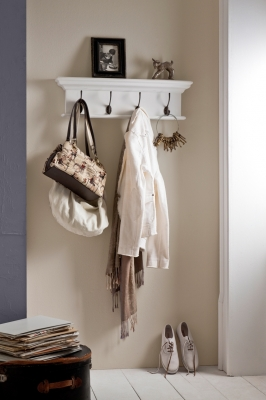 Nova Solo Halifax White 4 Hook Coat Rack