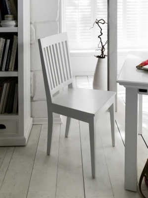 Nova Solo Halifax White Dining Chair (Pair)
