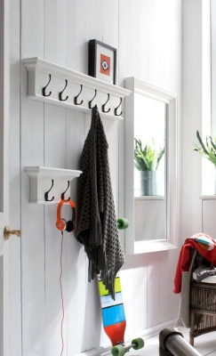Nova Solo Halifax White Hook Coat Rack