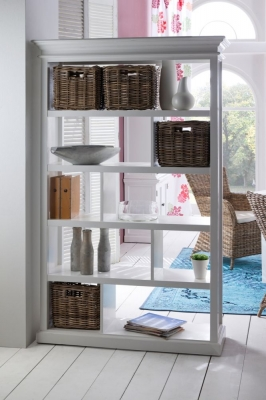 Nova Solo Halifax White 4 Basket Room Divider