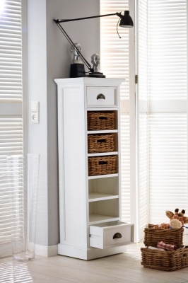 Nova Solo Halifax White 5 Basket Storage Tower