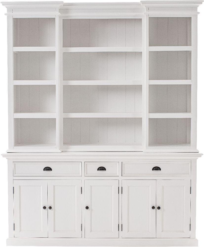 Nova Solo Halifax White Hutch Kitchen Cabinet
