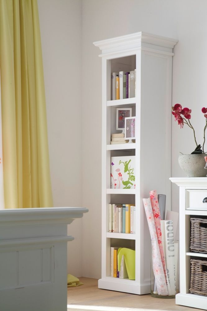 Nova Solo Halifax White Bookshelf