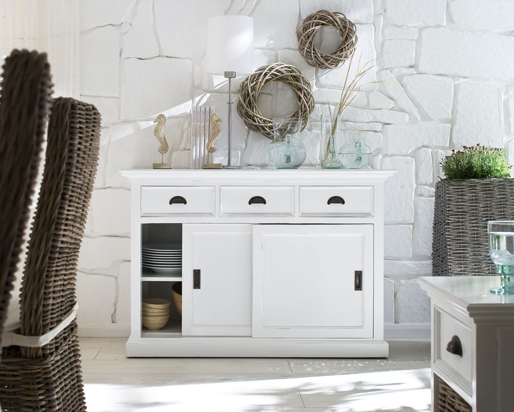 Buy Nova Solo Halifax White Buffet - Sliding Door Online - CFS UK