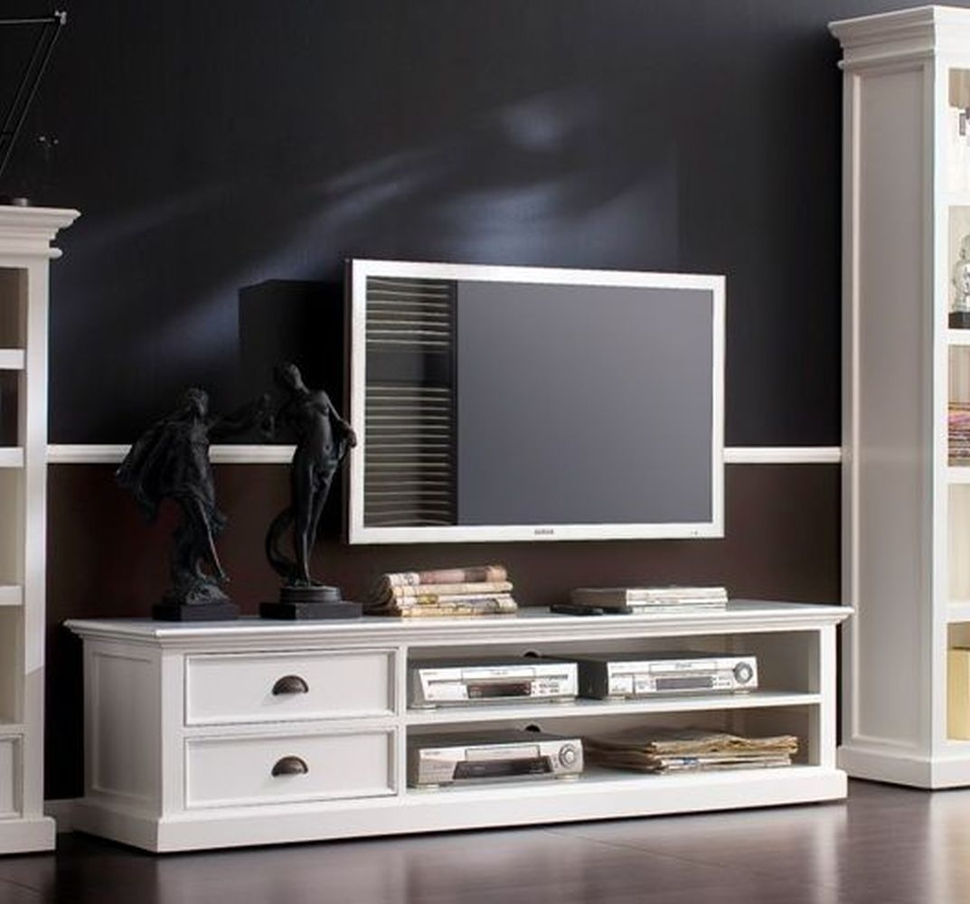 Nova Solo Halifax White 2 Drawer Entertainment Unit