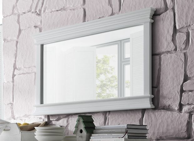 Nova Solo Halifax White Landscape Mirror - 120cm x 70cm