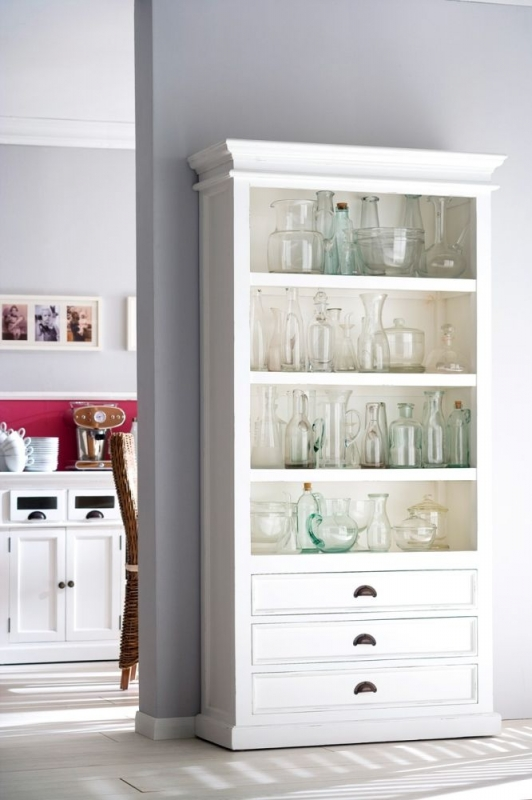 Nova Solo Halifax White Bookcase