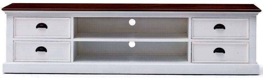 Nova Solo Halifax White Painted Accent TV Unit - 4 Drawers