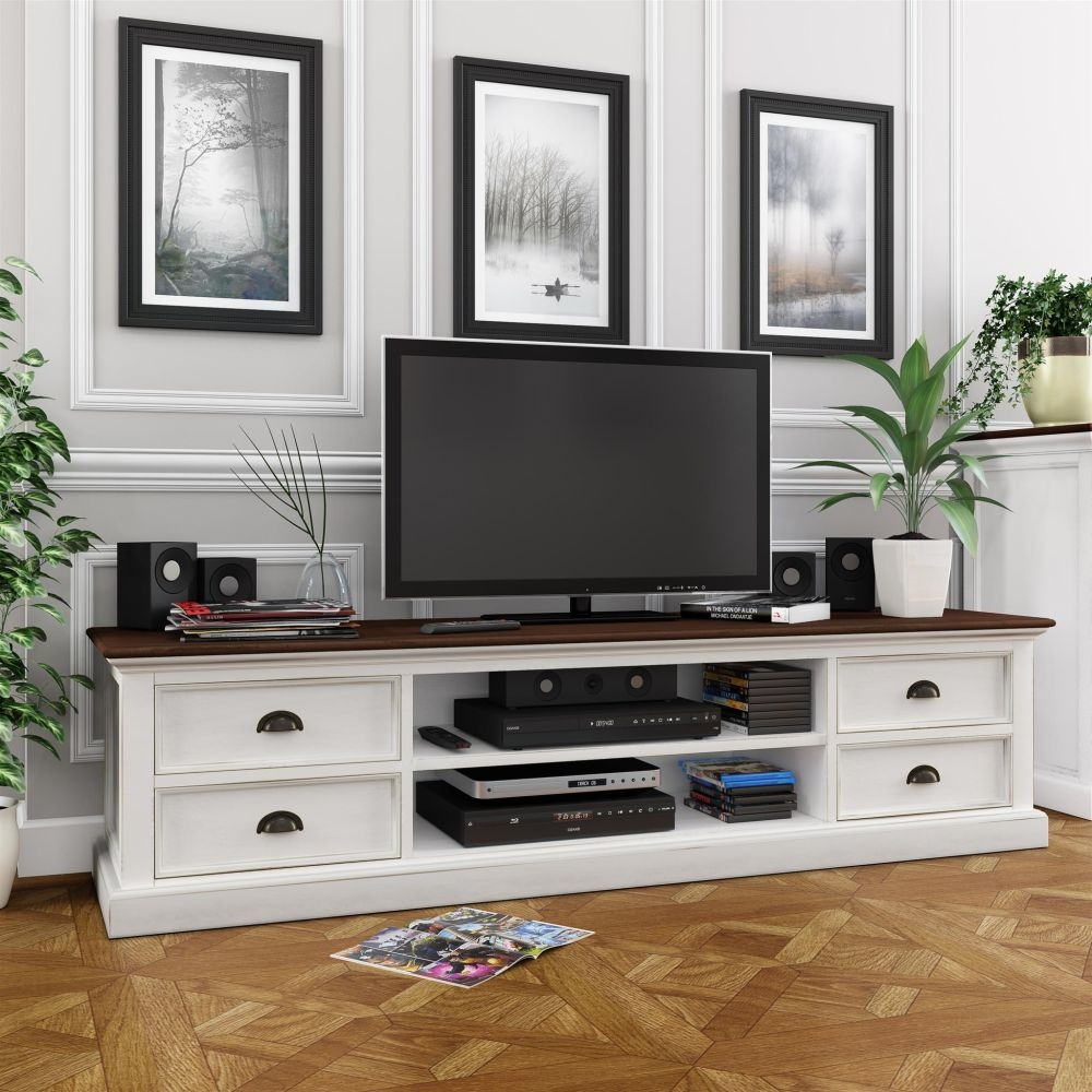 Nova Solo Halifax White Painted Accent TV Unit