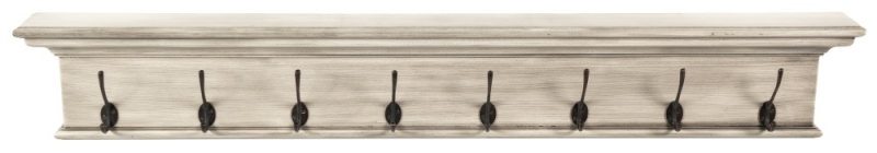 Nova Solo Halifax Rustic White 8 Hook Coat Rack