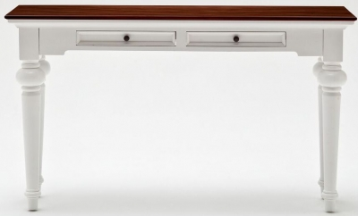 Nova Solo Provence Accent Console Table - White and Brown