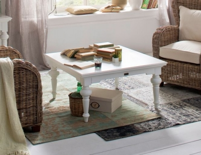Nova Solo Provence White Coffee Table - Square