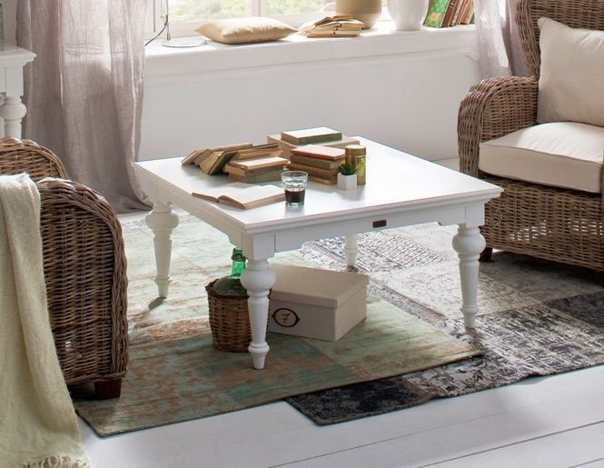 Nova Solo Provence White Square Coffee Table