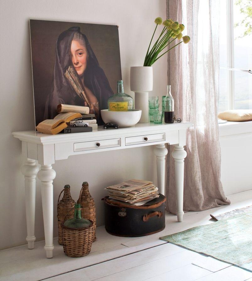 Nova Solo Provence White Console Table