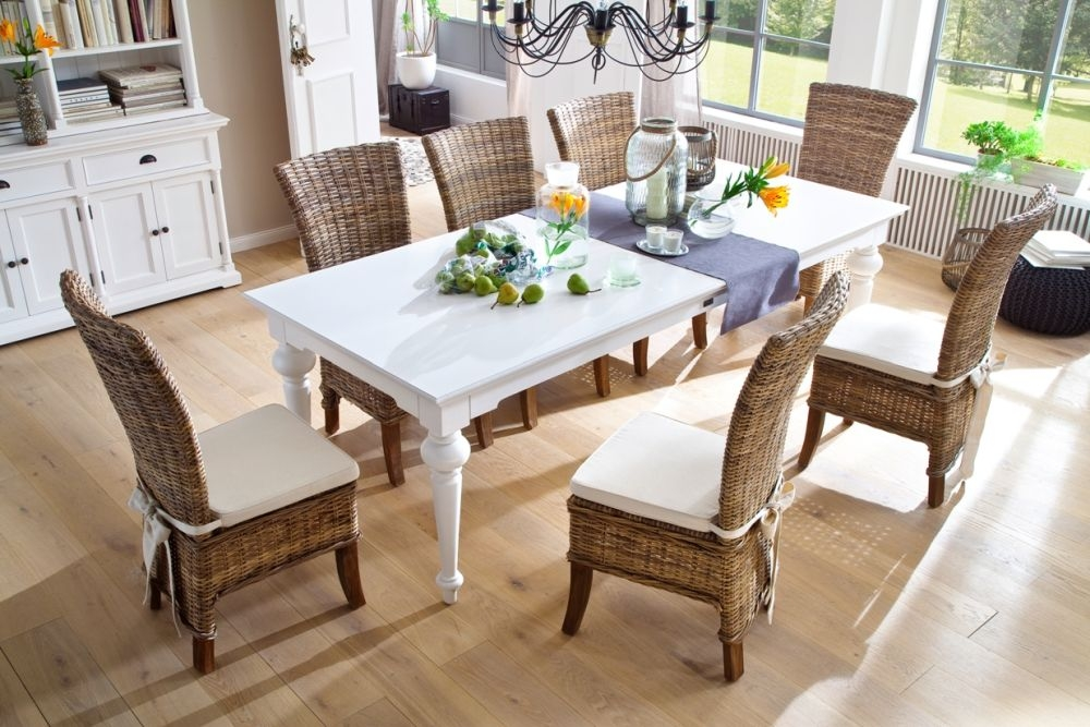 Nova Solo Provence White Dining Table - Large