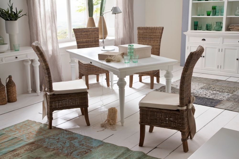 Nova Solo Provence White Dining Table