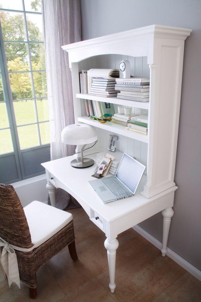 Nova Solo Provence White Secretary Desk