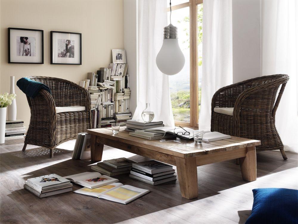 Nova Solo Wickerworks Bonsun Natural Grey Rattan Armchair with Cushion (Pair)