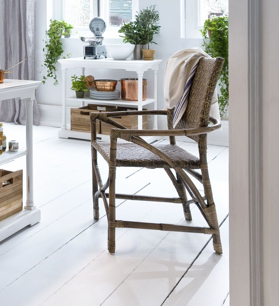 Nova Solo Wickerworks Natural Black Countess Wash Rattan Chair (Pair)