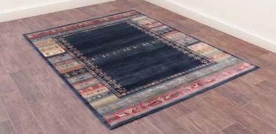 Oushak Luri Blue Luxury Polyester Rug