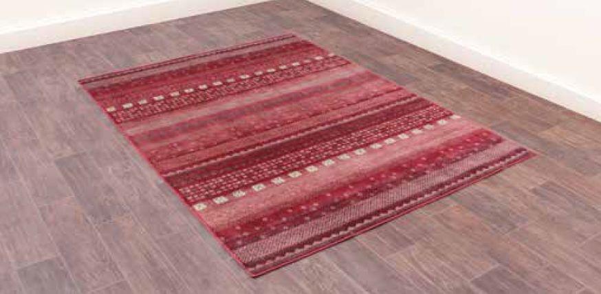 Oushak Gabbeh Red Luxury Polyester Rug