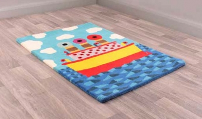 Unique Kids Ship Childrens Handmade Wool Rug