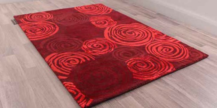 Unique Rose Handmade Wool Rug