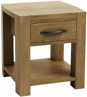 Qualita Goliath Oak Bedside Table