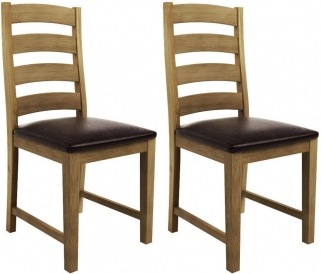 Qualita Goliath Oak Dining Chair (Pair)