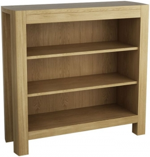 Qualita Goliath Oak Shelving Unit - Low