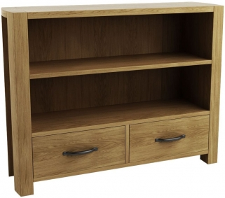 Qualita Goliath Oak Shelving Unit with Drawer