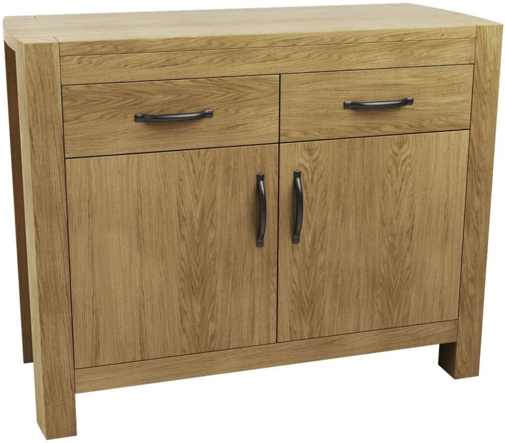 Qualita Goliath Oak 2 Door 2 Drawer Narrow Sideboard