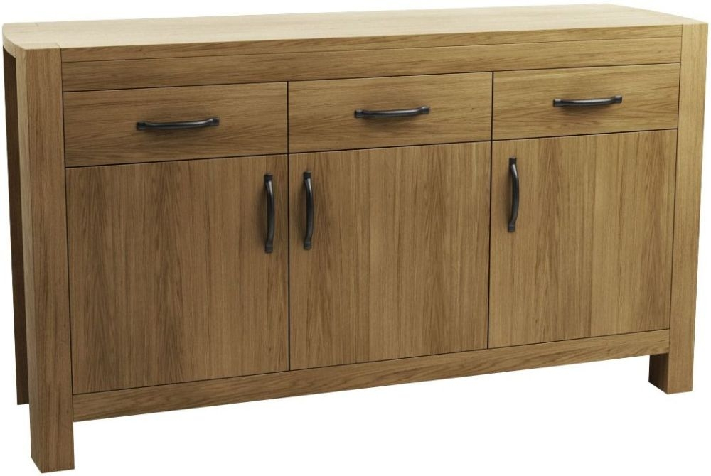 Qualita Goliath Oak Sideboard - 3 Door