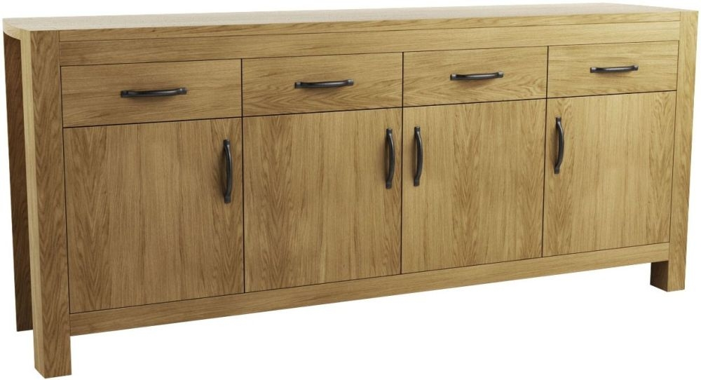Qualita Goliath Oak 4 Door 4 Drawer Wide Sideboard