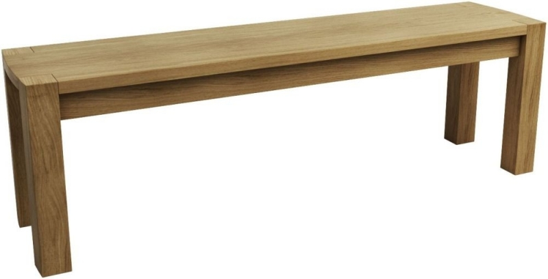 Qualita Goliath Oak Dining Bench for 185cm Table