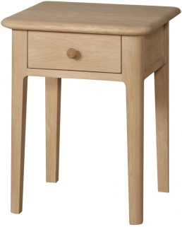 Qualita Hudson Oak Bedside Table