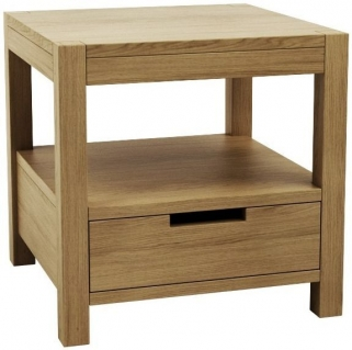 Qualita Sims Oak Bedside Table