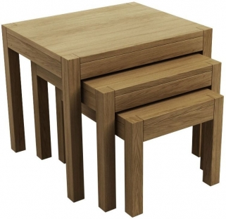 Qualita Sims Oak Nest of Tables - No 2