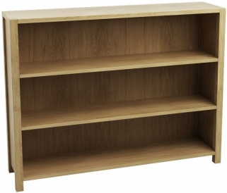 Qualita Sims Oak Shelving Unit - Low Open