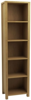 Qualita Sims Oak Shelving Unit - Tall Open