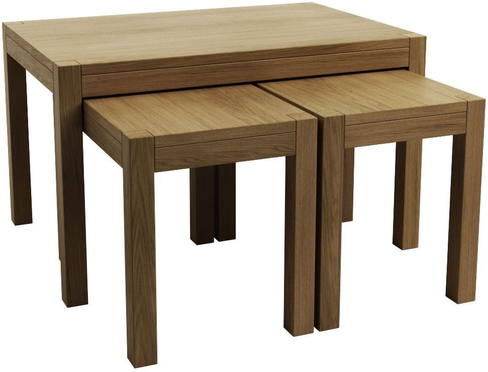 Qualita Sims Oak Nest of Tables - No 1