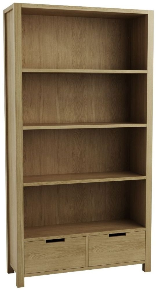 Qualita Sims Oak Shelving Unit with Drawer