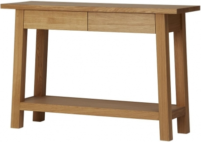 Qualita Trinity Oak Console Table